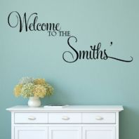 Personalised 'Welcome to the...~ Wall sticker / decals